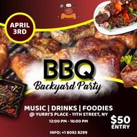 BBQ party poster Publicación de Instagram template