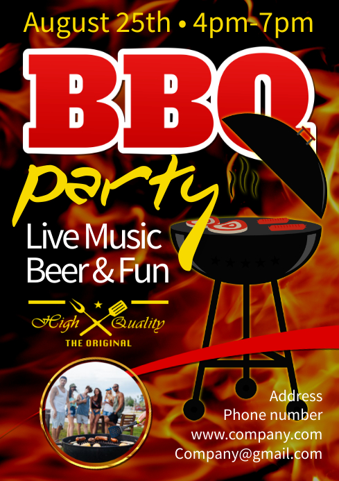 BBQ Poster A3 template