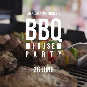bbq poster Square (1:1) template