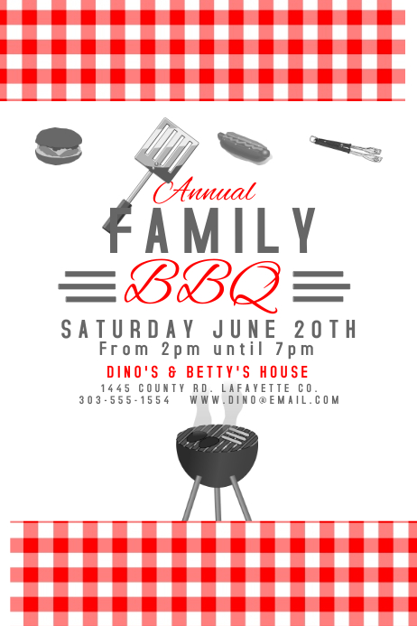 Customize 1,090+ Barbecue Templates | PosterMyWall