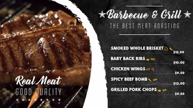 BBQ Restaurant Video Menu Template
