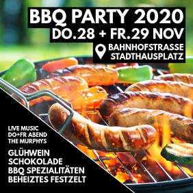 BBQ Special restaurant Invitation Flyer Event Publicação no Instagram template