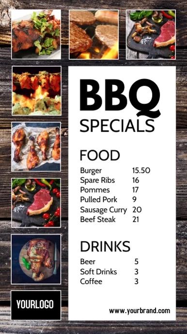 BBQ Specials Offers Specials Ad Promotion Instagram 故事 template