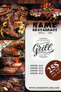 BBQ STEAK Poster template