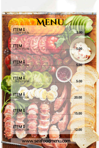 BBQ STEAK menu