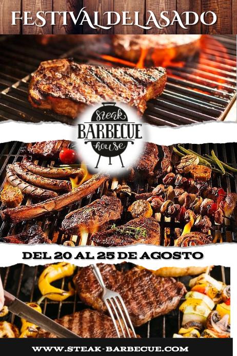 BBQ STEAK1 Poster template