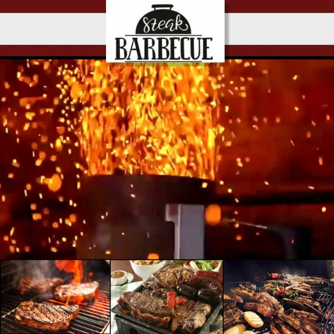 BBQ STEAK1 Instagram-bericht template