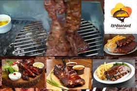 BBQ STEAK23 video Poster template