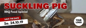 bbq suckling pig food special meat restaurant ส่วนหัวอีเมล template