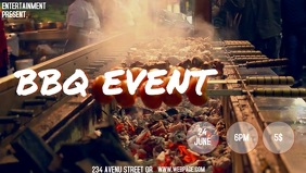 BBQ video flyer template