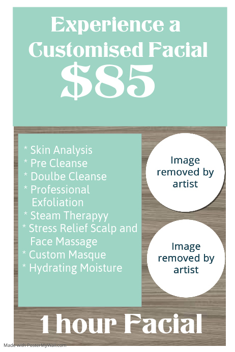 ! hour Customised Facial only $85