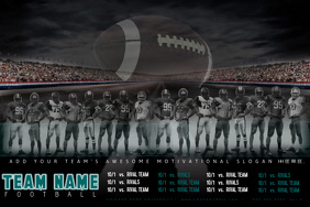 College High School Football Season Schedule Event Game Poster