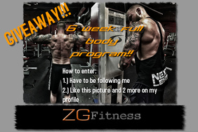 Giveaway Fitness Flyer