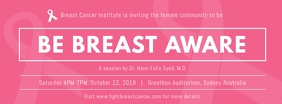 Be Breast Aware Event Couverture Facebook template