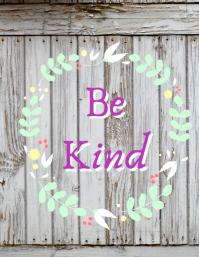 Be Kind Flyer (format US Letter) template