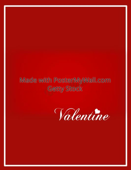 Be Mine Valentine Video Flyer