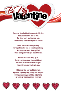 60 customizable design templates for poem postermywall happy valentines day love poem similar design templates maxwellsz