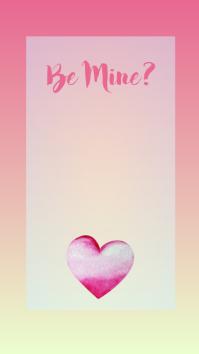 Be My Valentine Instagram Story