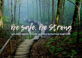 Be Safe Postcard template