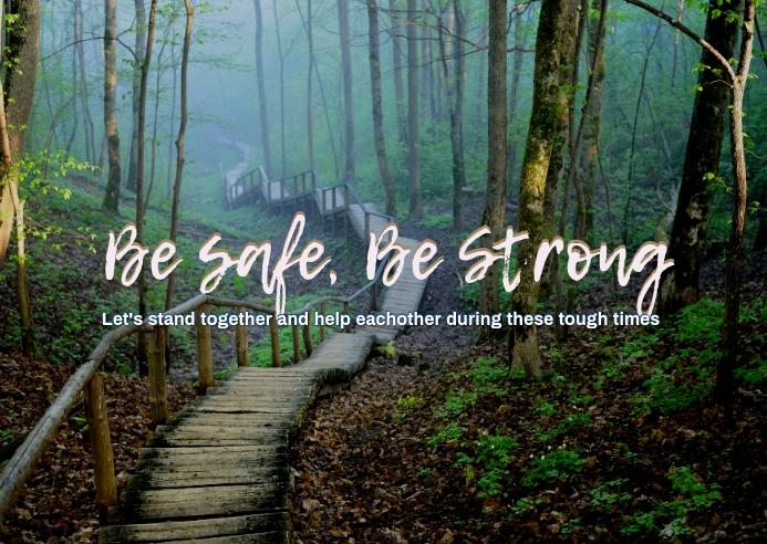 Be Safe Kartu Pos template