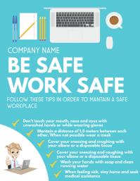 be safe work safe flyer template