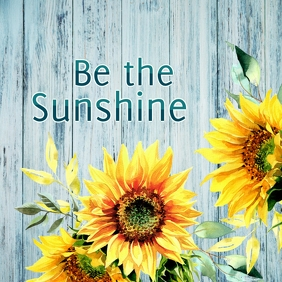 Be the Sunshine Instagram Post template