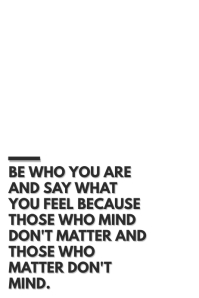 be who you are 2.0