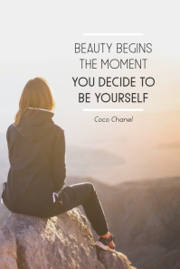 Be Yourself Pinterest Graphic template