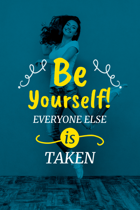 Be Yourself - Pinterest Graphic Pinterest-afbeelding template
