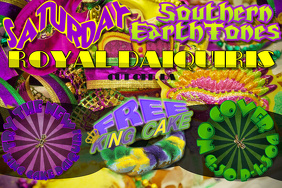 Mardi Gras King Cake Daiquiri Flyer Special