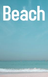 beach at daytime Sampul Buku template