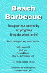 beach barbecue fundraiser flyer