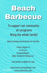 beach barbecue fundraiser flyer