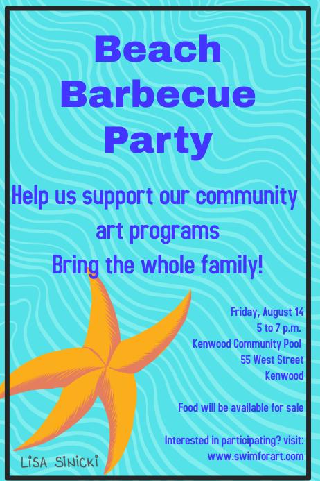 beach barbecue fundraiser template