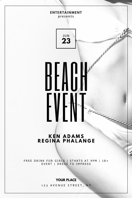 Beach Bikini Luxury Event Flyer Template