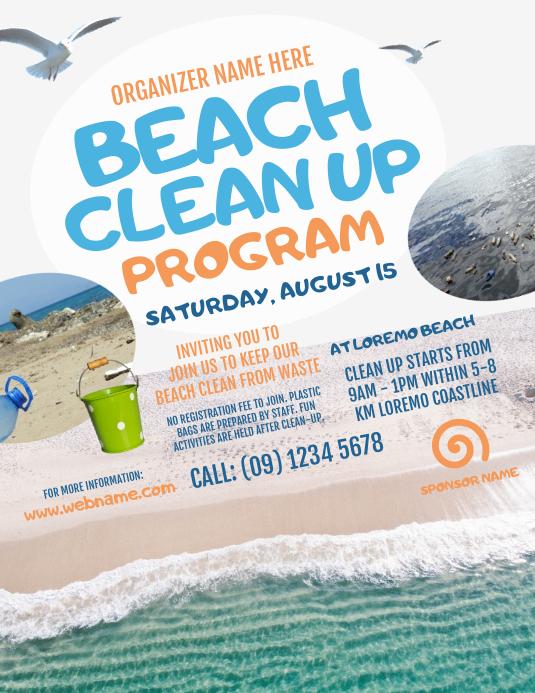 Beach Clean Up Flyer Template