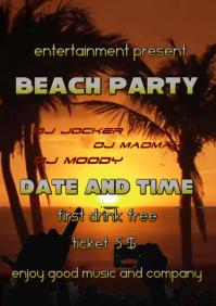 Beach Concert poster
