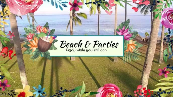 Beach Video Sampul Facebook (16:9) template