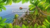 Beach Drone Video Sampul Facebook (16:9) template