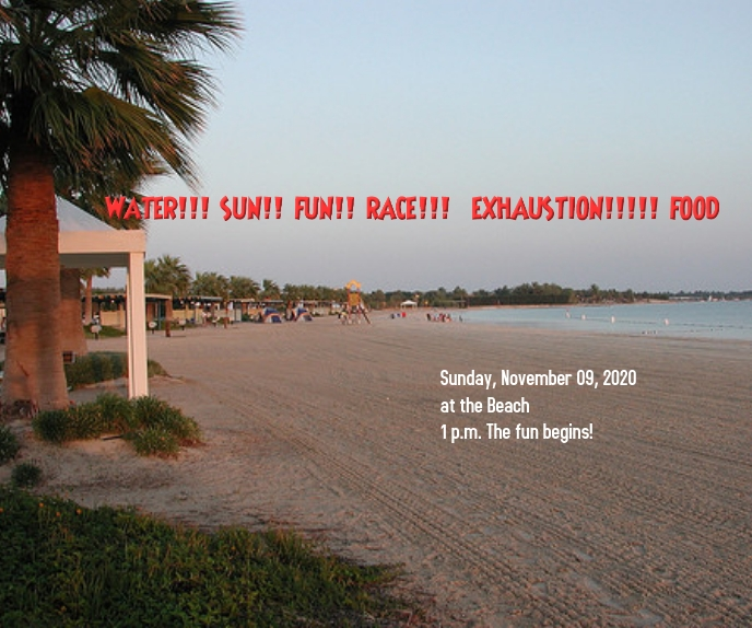Beach event Retângulo grande template