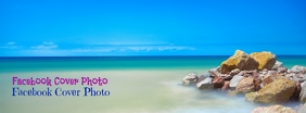 Beach Facebook Cover Photo Zdjęcie w tle na Facebooka template