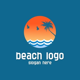beach logo template
