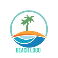 Beach logo Logótipo template