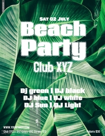Beach Party Bar Sun Summer Event Water DJ Night Sunset Dance