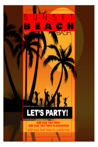 Beach Party Event Summer Flyer Poster