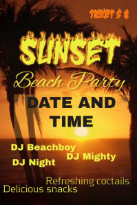 Beach Party flayer