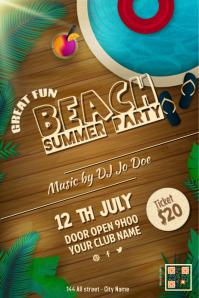 Beach party flyers