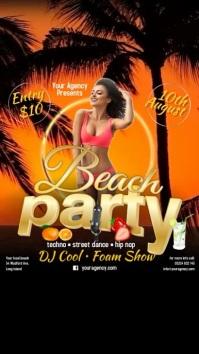 Beach Party Instagram Post