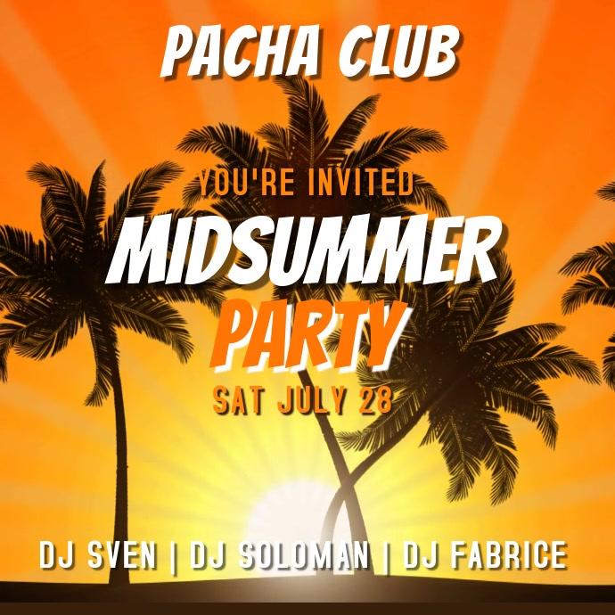 Beach Party Summer Club Event