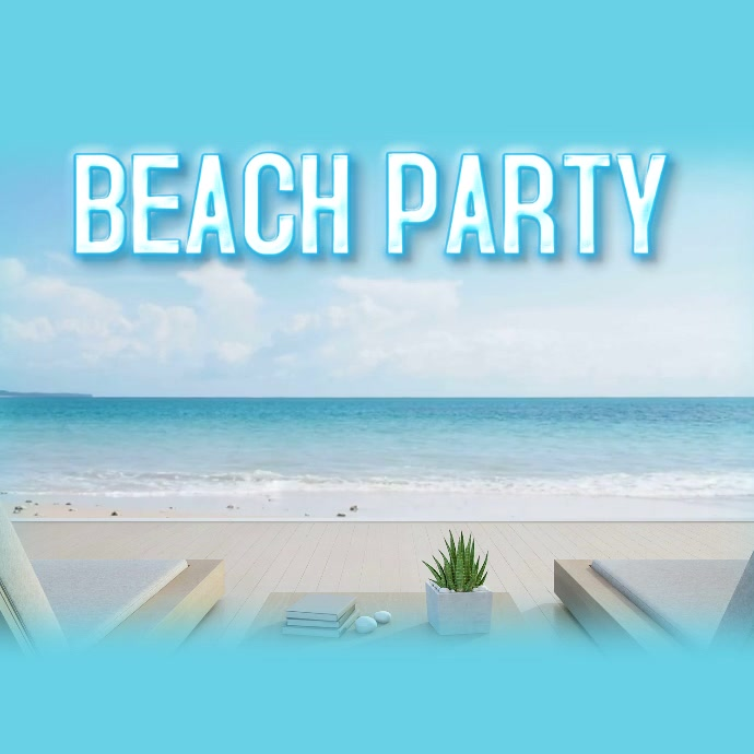 beach party vacation event template postermywall